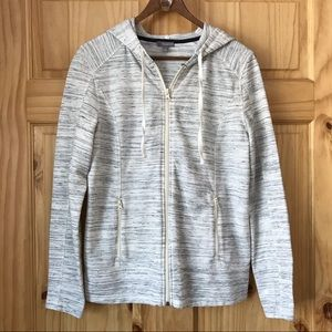 Talbots textured space dye fitted hoodie Sz S